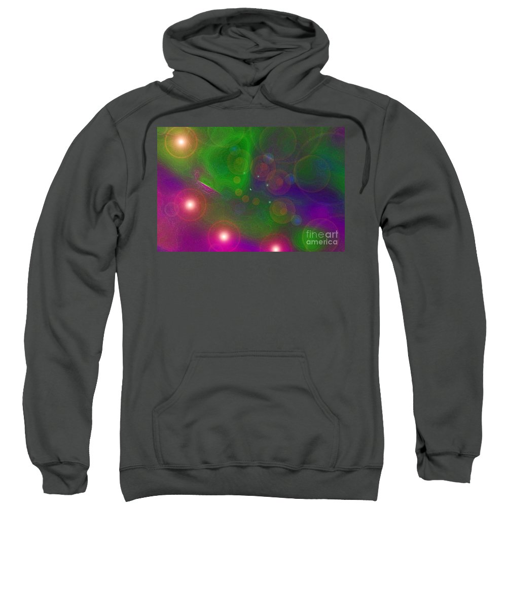 First Star Sweatshirt featuring the mixed media Love Dreams By Jrr by First Star Art