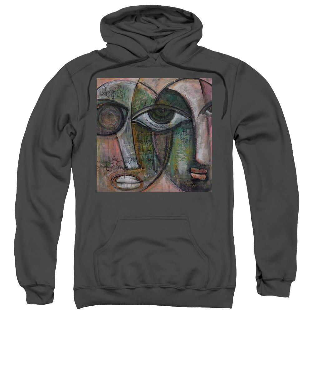 Love Sweatshirt featuring the painting Love. I Remember You This Way by Laurie Maves ART
