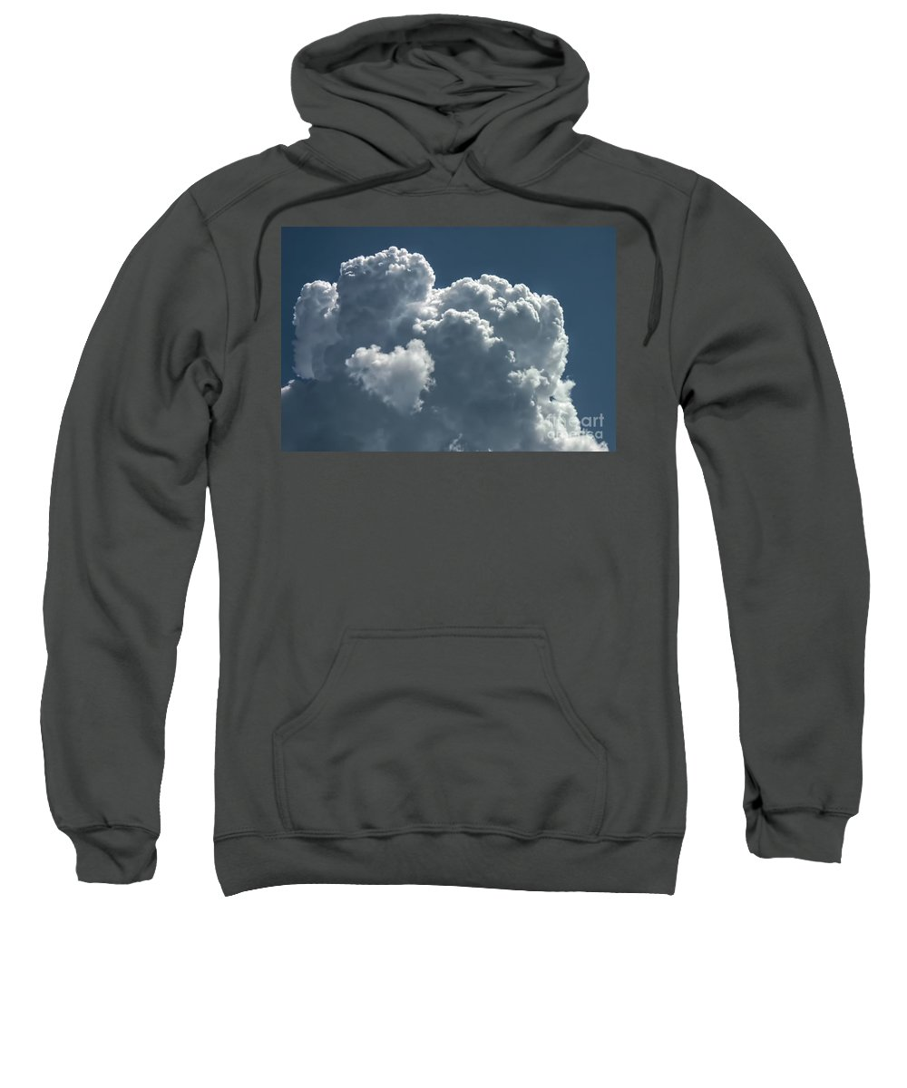 Heart Sweatshirt featuring the photograph Love In The Sky by Peggy Hughes