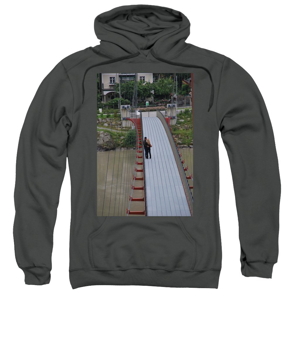 Love Sweatshirt featuring the photograph Lovers Between Countries by Richard Booth