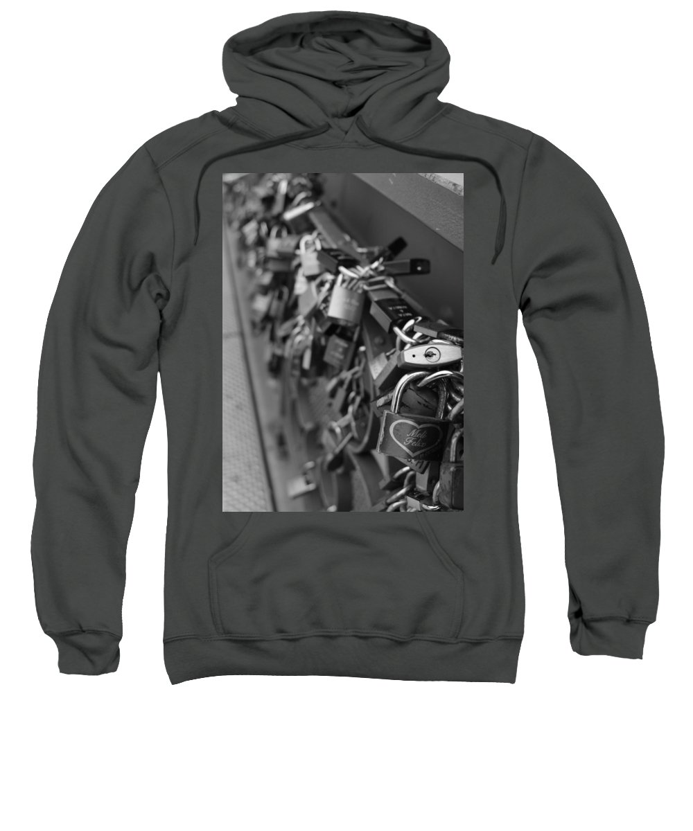 Lovers Sweatshirt featuring the photograph Lovers Crossing by Miguel Winterpacht
