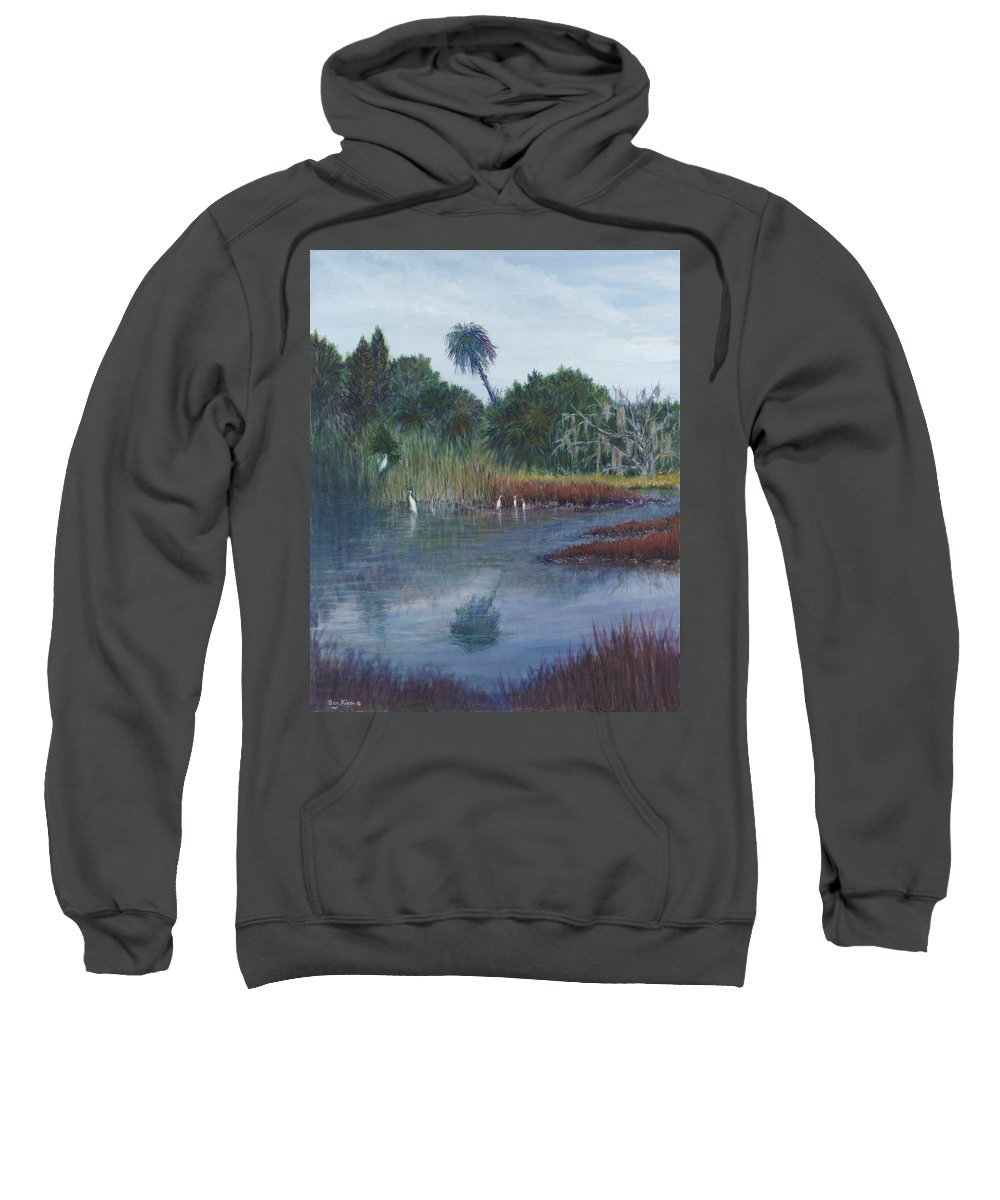 Landscape Sweatshirt featuring the painting Low Country Social by Ben Kiger