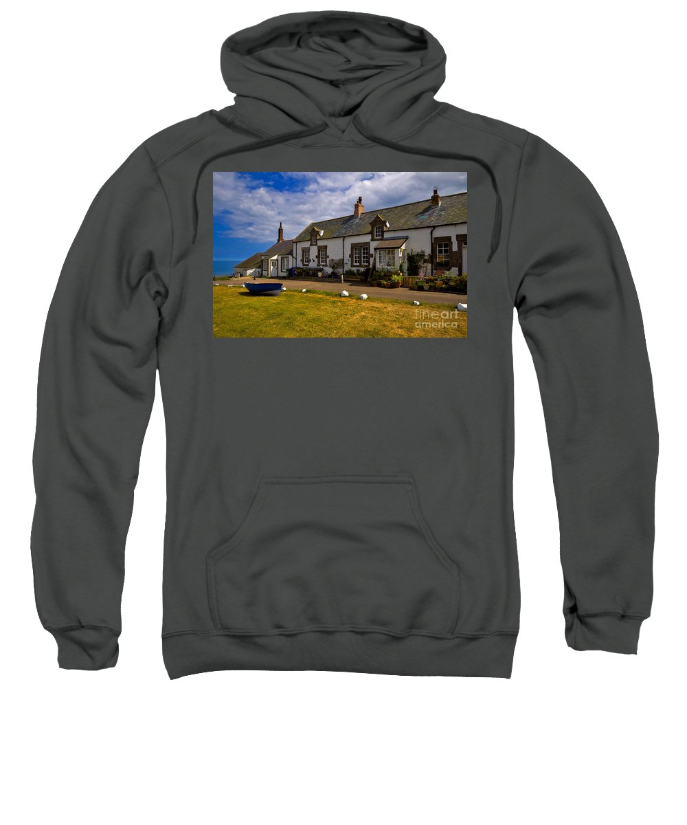 Travel Sweatshirt featuring the photograph Low Newton By The Sea by Louise Heusinkveld