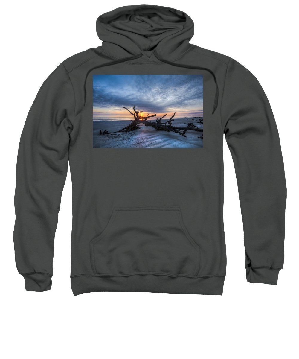 Clouds Sweatshirt featuring the photograph Low Tide At Sunrise by Debra and Dave Vanderlaan
