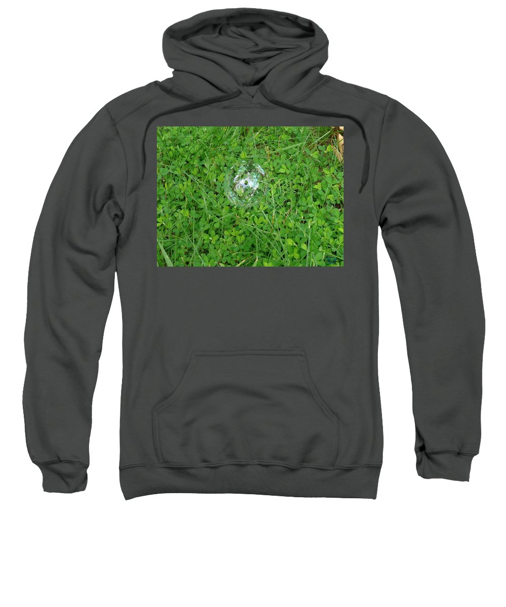 Shamrocks Sweatshirt featuring the photograph Lucky Bubble by Jannice Walker