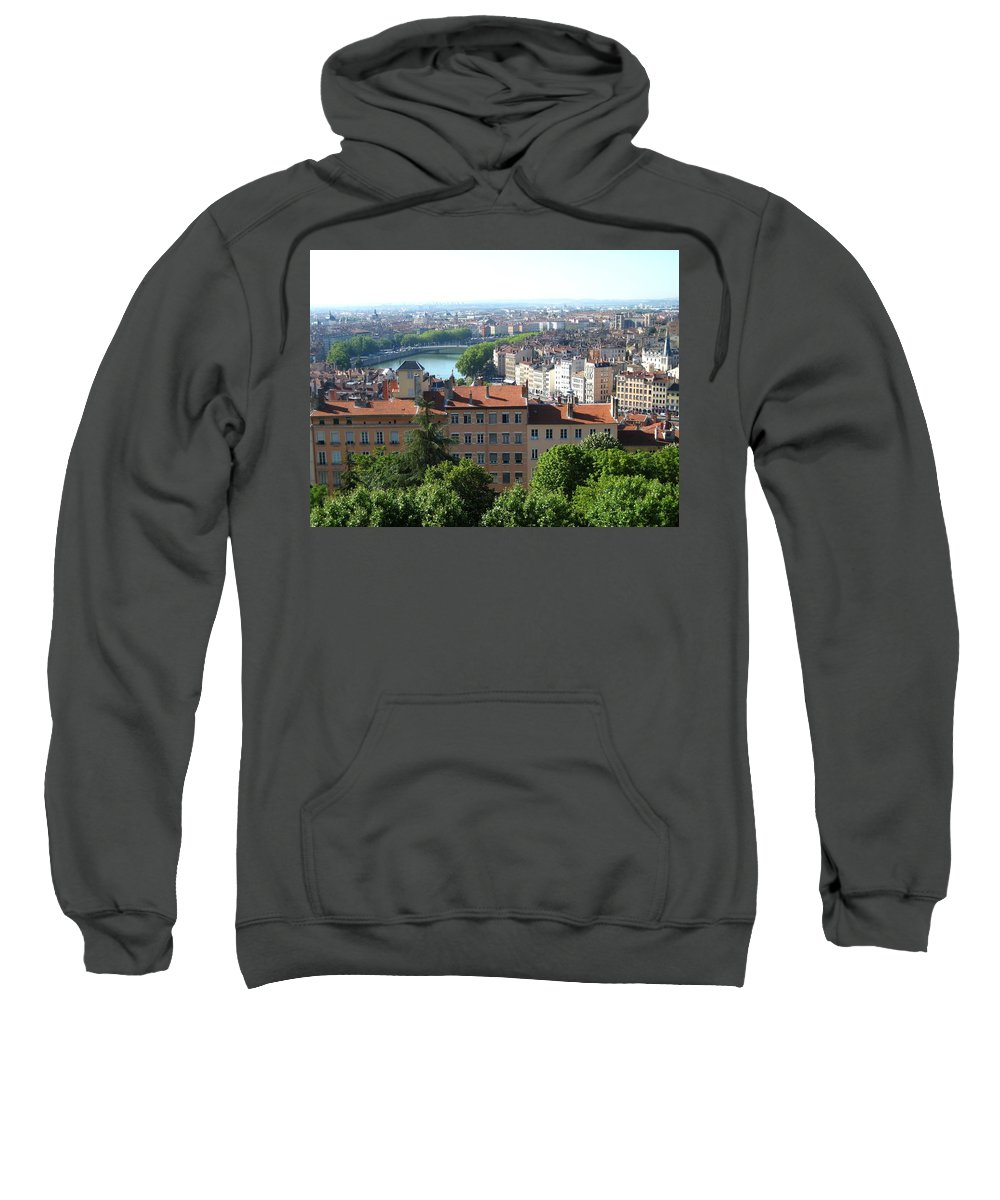 Lyon Sweatshirt featuring the photograph Lyon From Above by Dany Lison