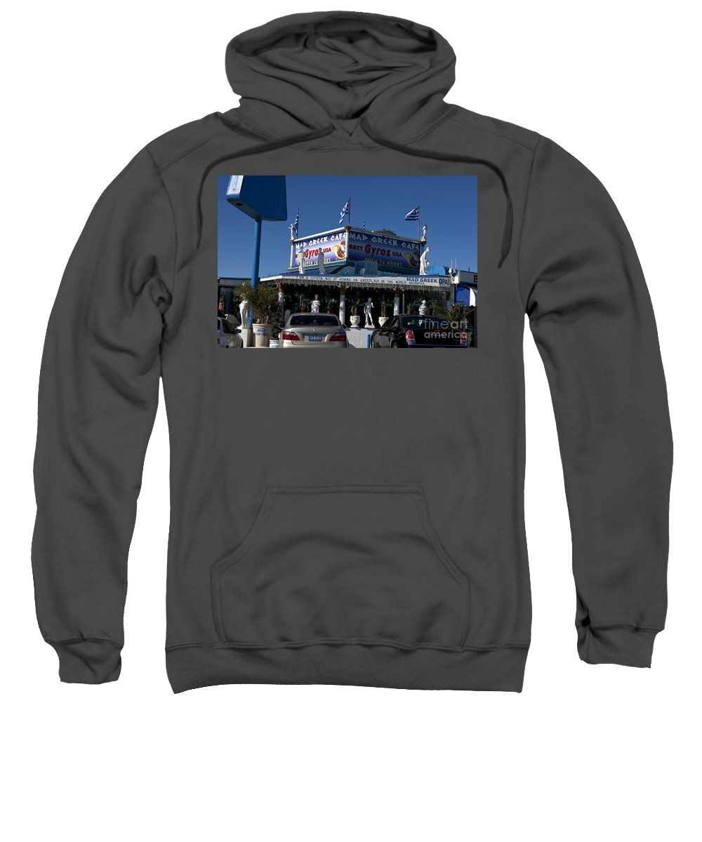 Travel Sweatshirt featuring the photograph Mad Greek Cafe by Jason O Watson