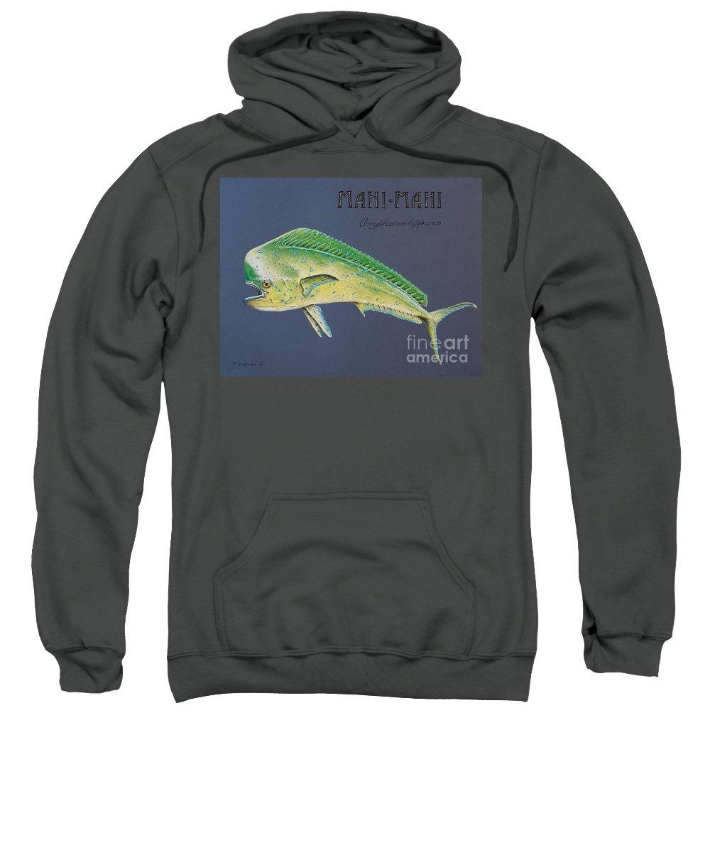 Mahi Mahi Sweatshirt featuring the pastel Mahi-mahi by Katharina Filus