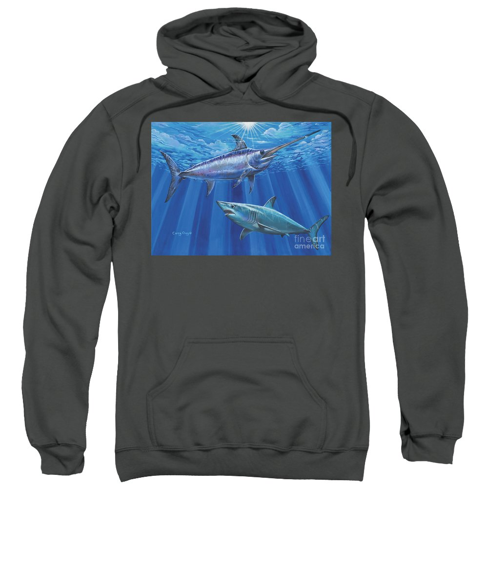 Swordfish Sweatshirt featuring the painting Mako Sword Off0024 by Carey Chen