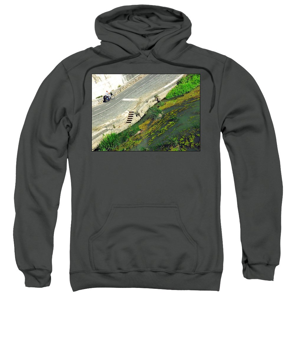 Man Sweatshirt featuring the photograph Man Vs Nature by Valentino Visentini