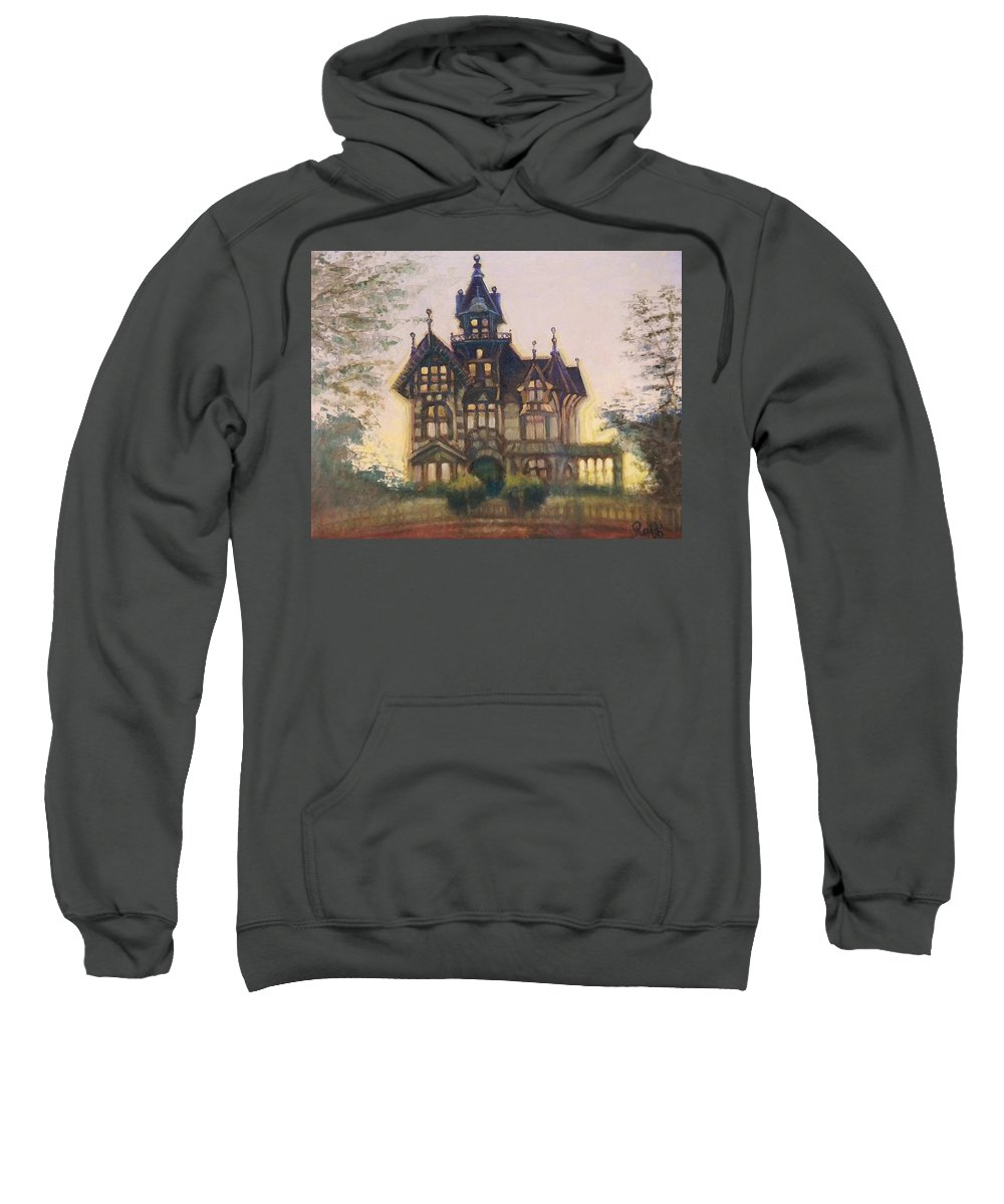 Eureka Sweatshirt featuring the painting Mansion In Eureka by Raffi Jacobian