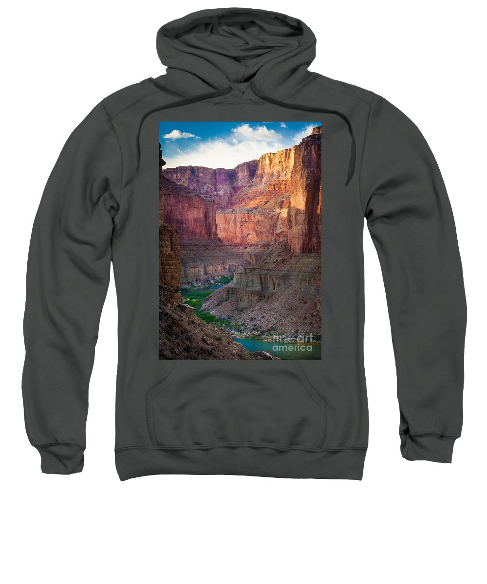 America Sweatshirt featuring the photograph Marble Cliffs by Inge Johnsson