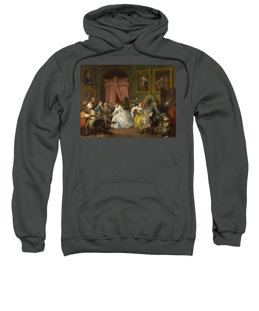 William Hogarth Sweatshirt featuring the painting Marriage A-la-mode The Toilette by William Hogarth