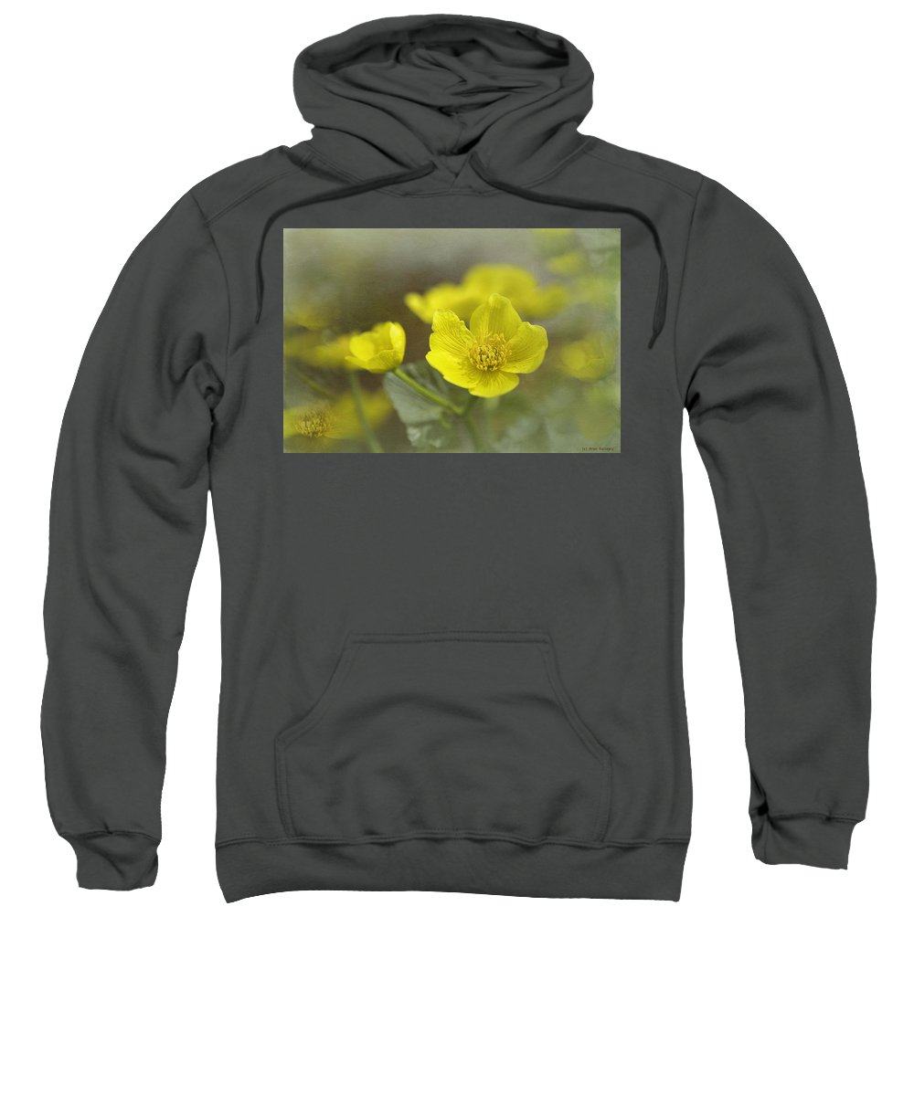 Flower Sweatshirt featuring the photograph Marsh Marigolds by Fran Gallogly