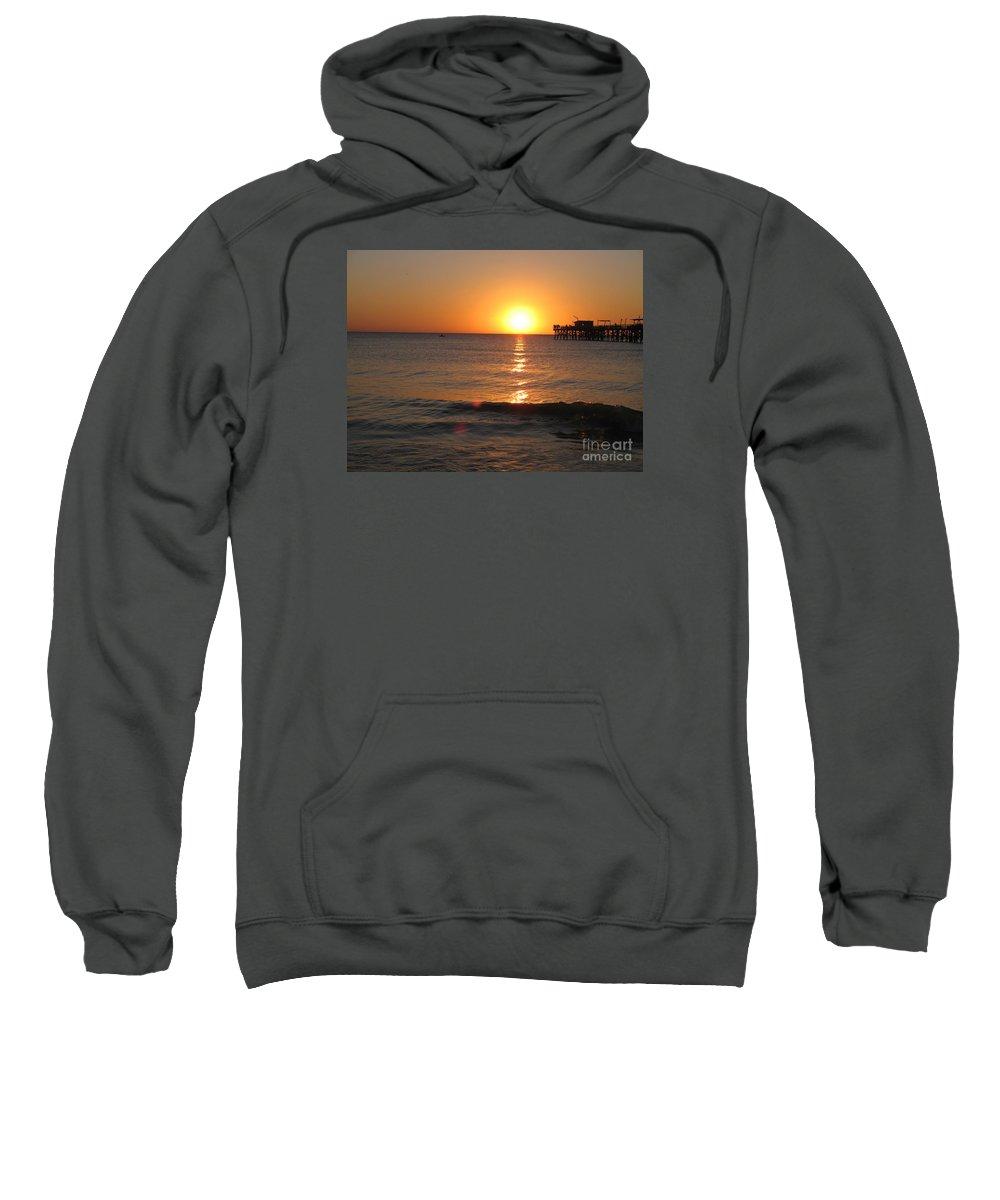 Sunset Sweatshirt featuring the photograph Marvelous Gulfcoast Sunset by Christiane Schulze Art And Photography