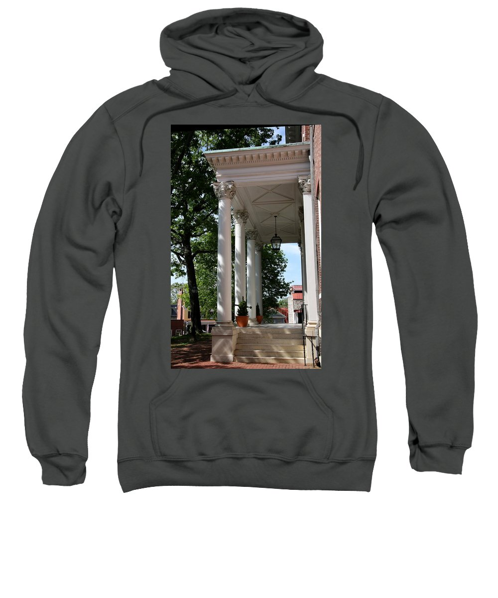 Columns Sweatshirt featuring the photograph Maryland State House Columns by Christiane Schulze Art And Photography