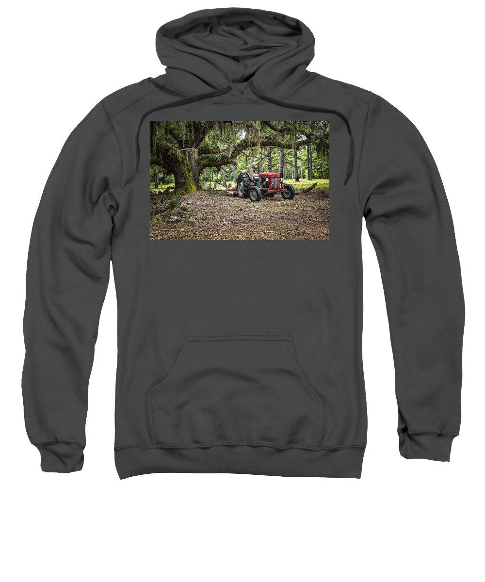 Massey Ferguson Sweatshirt featuring the photograph Massey Ferguson - Live Oak by Scott Hansen