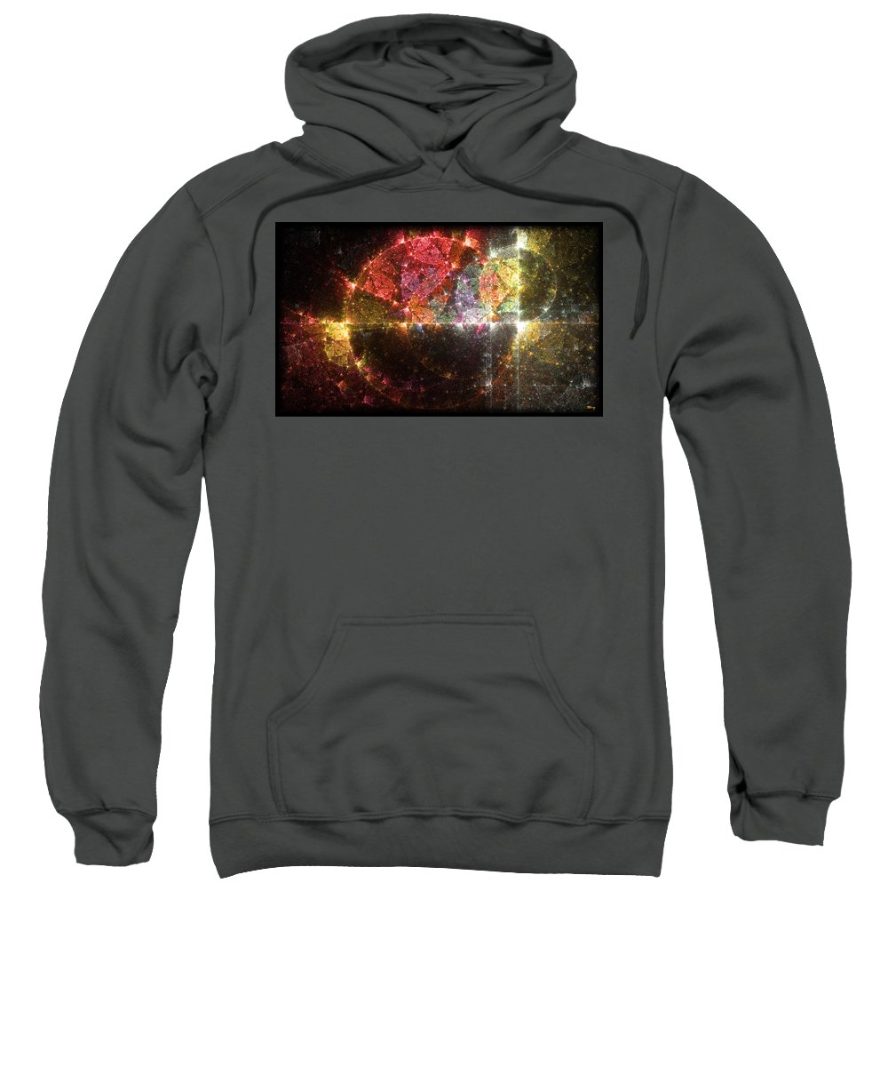 Master Sweatshirt featuring the digital art Master Clock by Brian Kenney