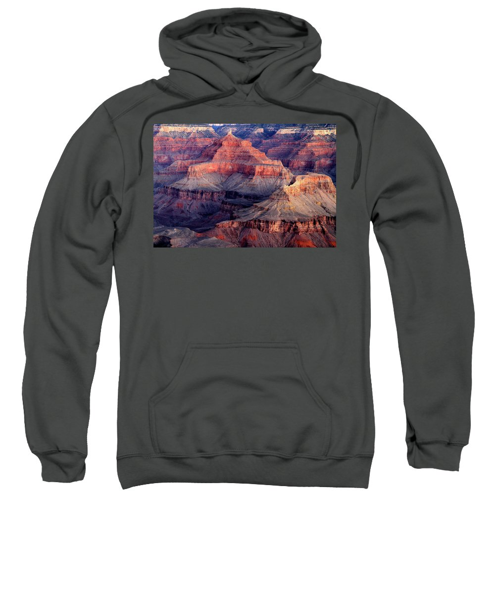 Arizona Sweatshirt featuring the photograph Mather Point Twilight by Ed Riche