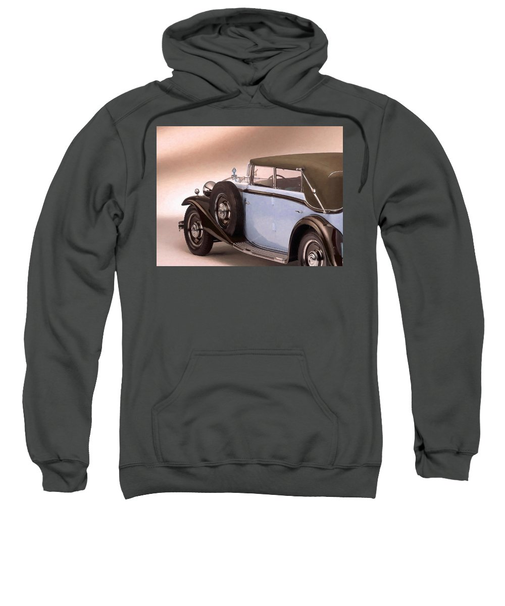 Maybach Sweatshirt featuring the painting Maybach Car 5 by Jeelan Clark