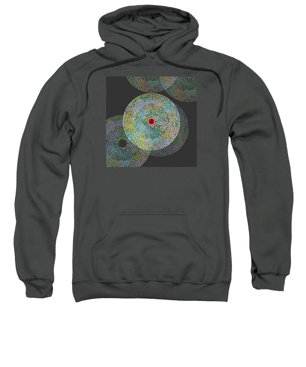 Maze Sweatshirt featuring the painting Maze You Cant Get There From Here by Tony Rubino