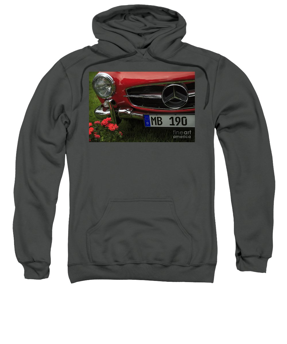 1961 Mercedes Benz 190 Sl Sweatshirt featuring the photograph Mb 190 by Dennis Hedberg