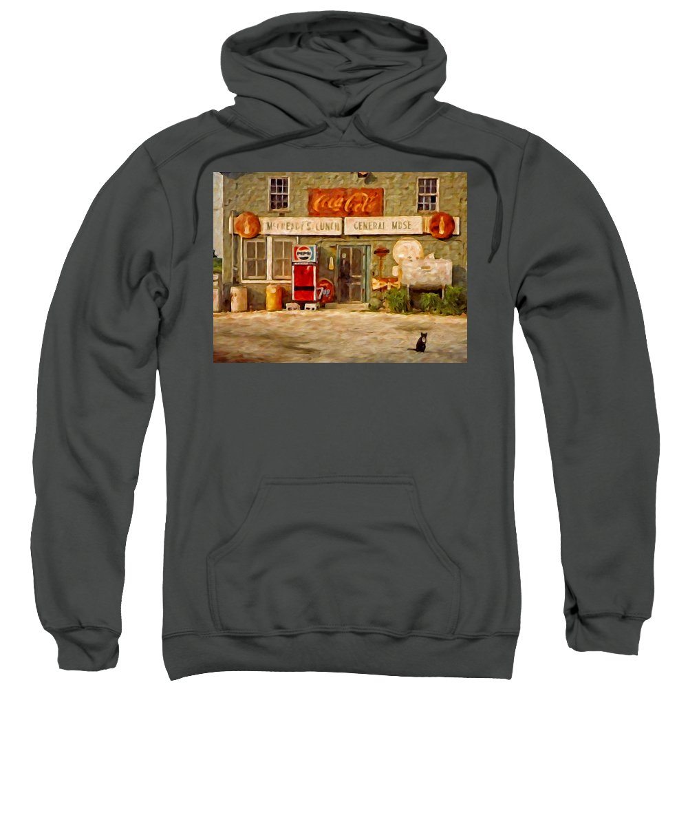 Oyster Sweatshirt featuring the painting Mccready's by Michael Pickett