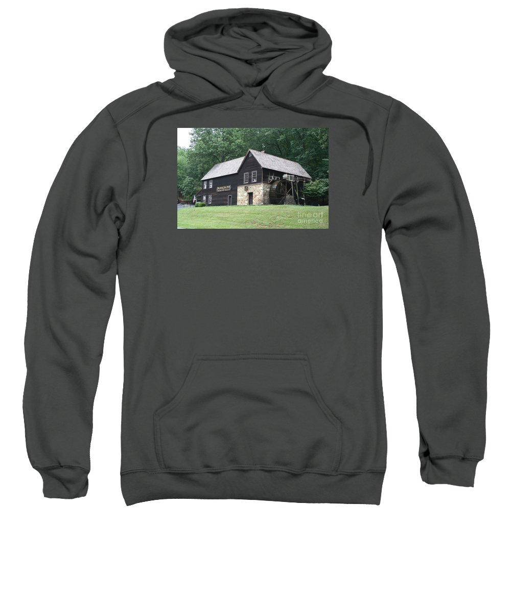 Mill Sweatshirt featuring the photograph Meadow Run Mill by Christiane Schulze Art And Photography