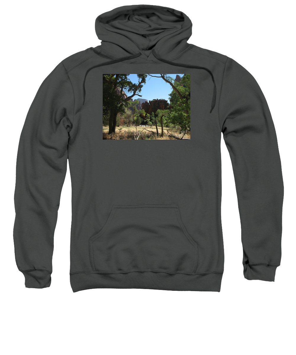 Zion Park Sweatshirt featuring the photograph Meadow Zion Park by Christiane Schulze Art And Photography