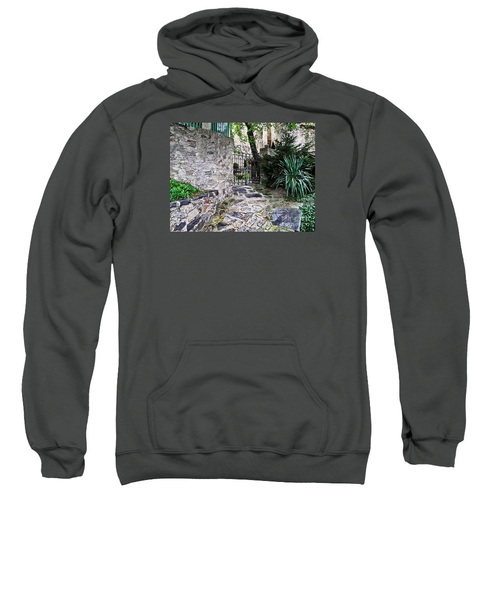 Travel Sweatshirt featuring the photograph Medieval Garden by Elvis Vaughn