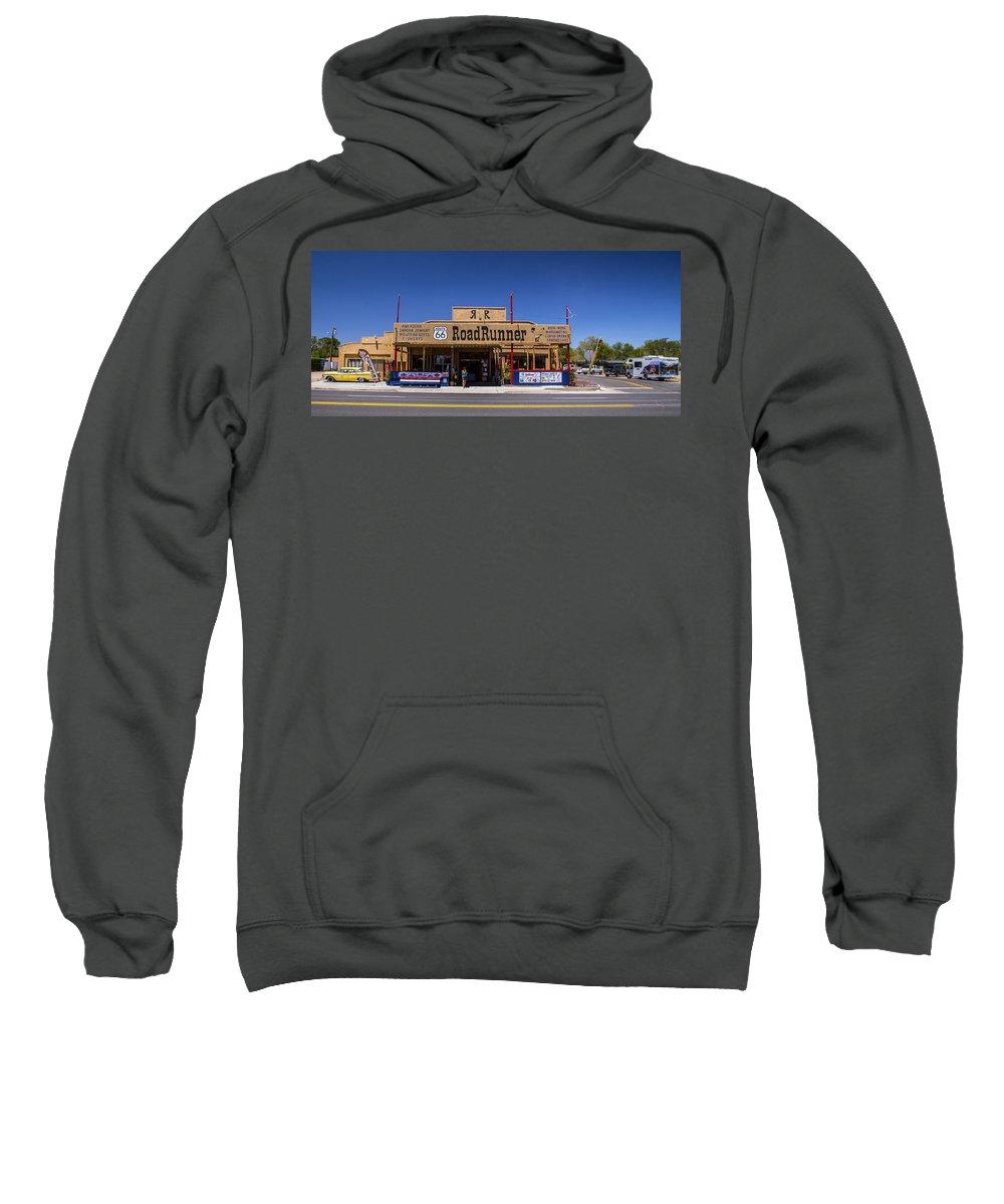 Route 66 Sweatshirt featuring the photograph Meep Meep by Angus Hooper Iii