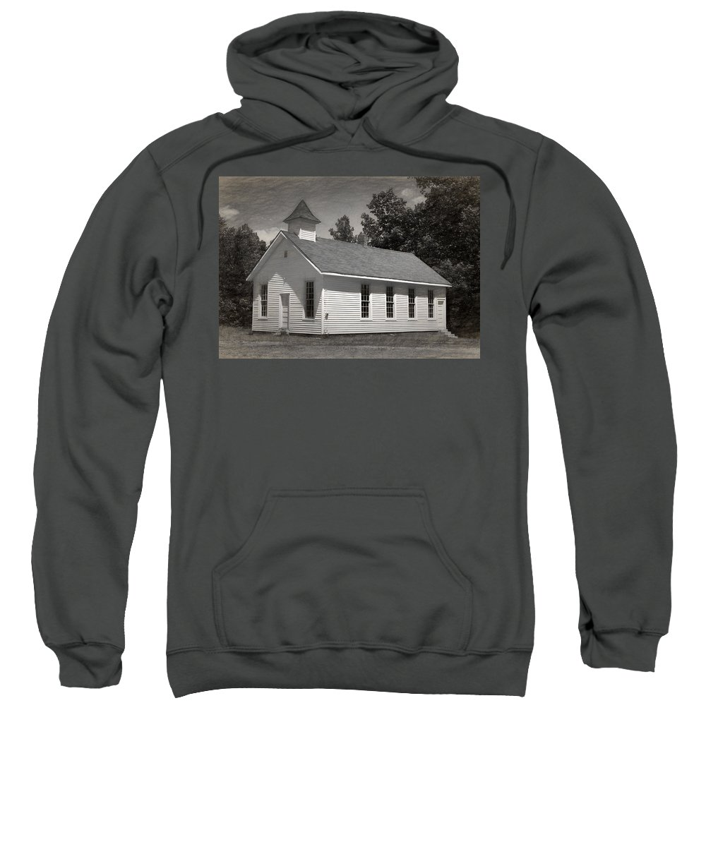 Abandoned Sweatshirt featuring the photograph Meeting House by Richard Rizzo