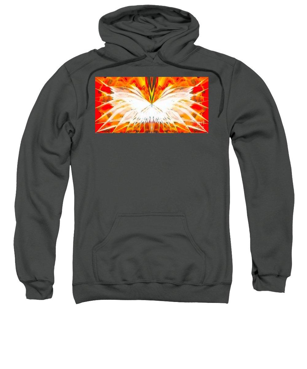 Angel Sweatshirt featuring the digital art Melea by Raymel Garcia