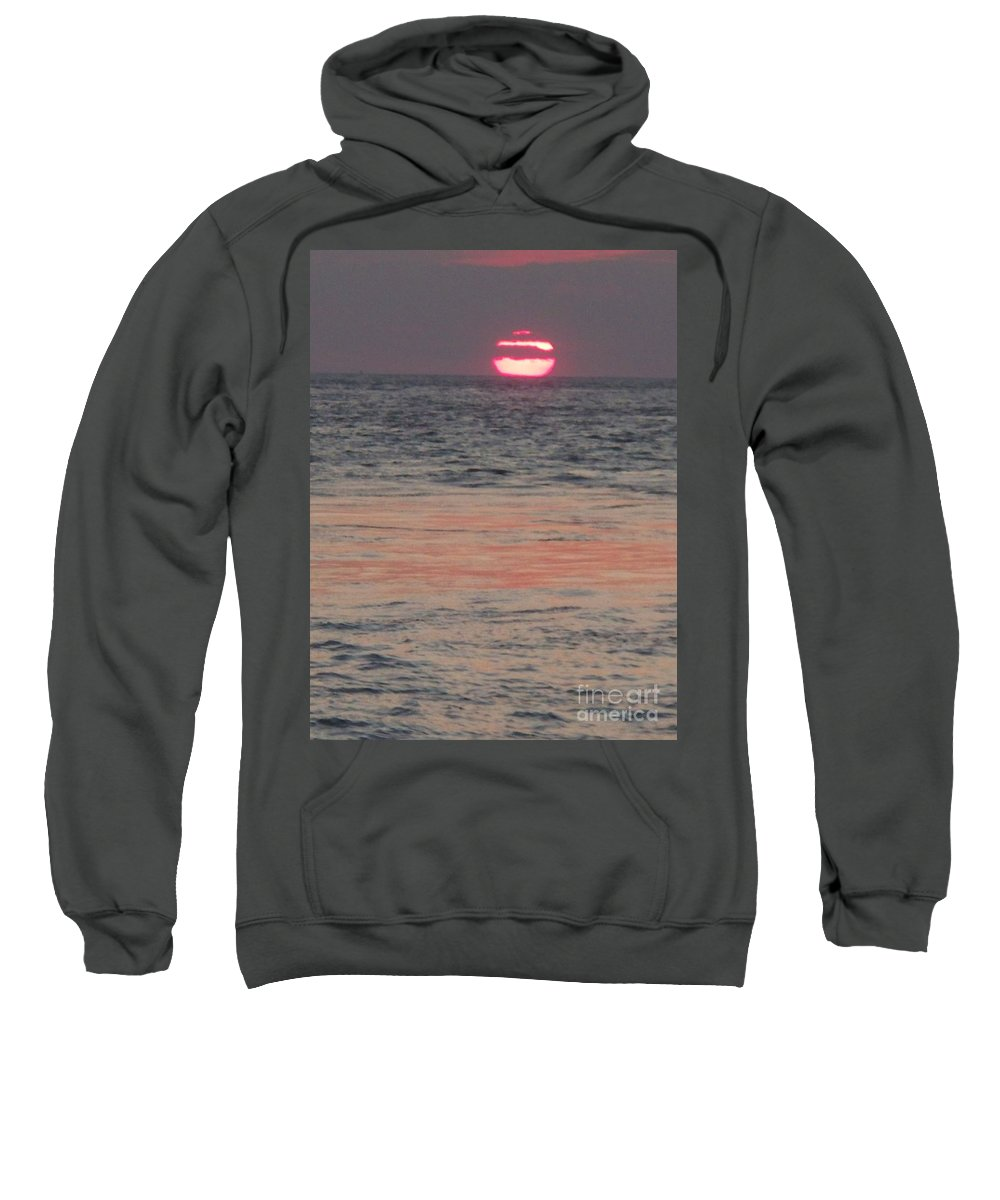 Photography Sweatshirt featuring the photograph Melting Sun Into The Cool Sea by Eric Schiabor