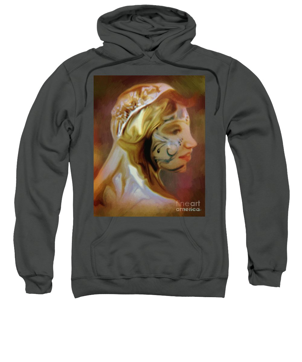 Fantasy Sweatshirt featuring the painting Melusine Of Avalon by RC DeWinter