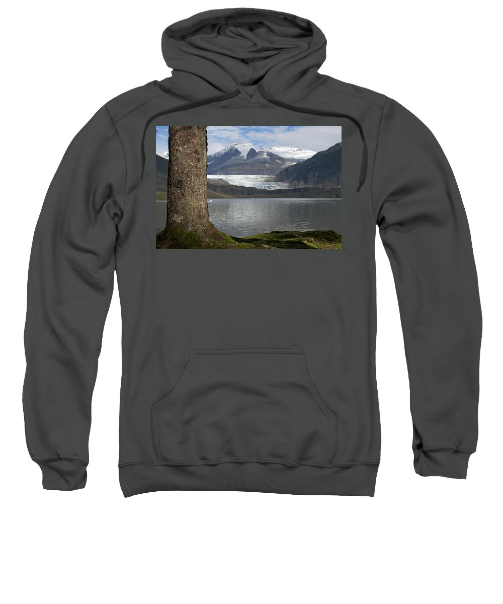 Glacier Sweatshirt featuring the photograph Mendenhall Glacier In Late Fall by Cathy Mahnke