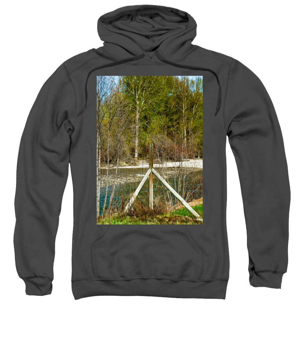 North Cascades Sweatshirt featuring the photograph Methow River Springtime by Omaste Witkowski