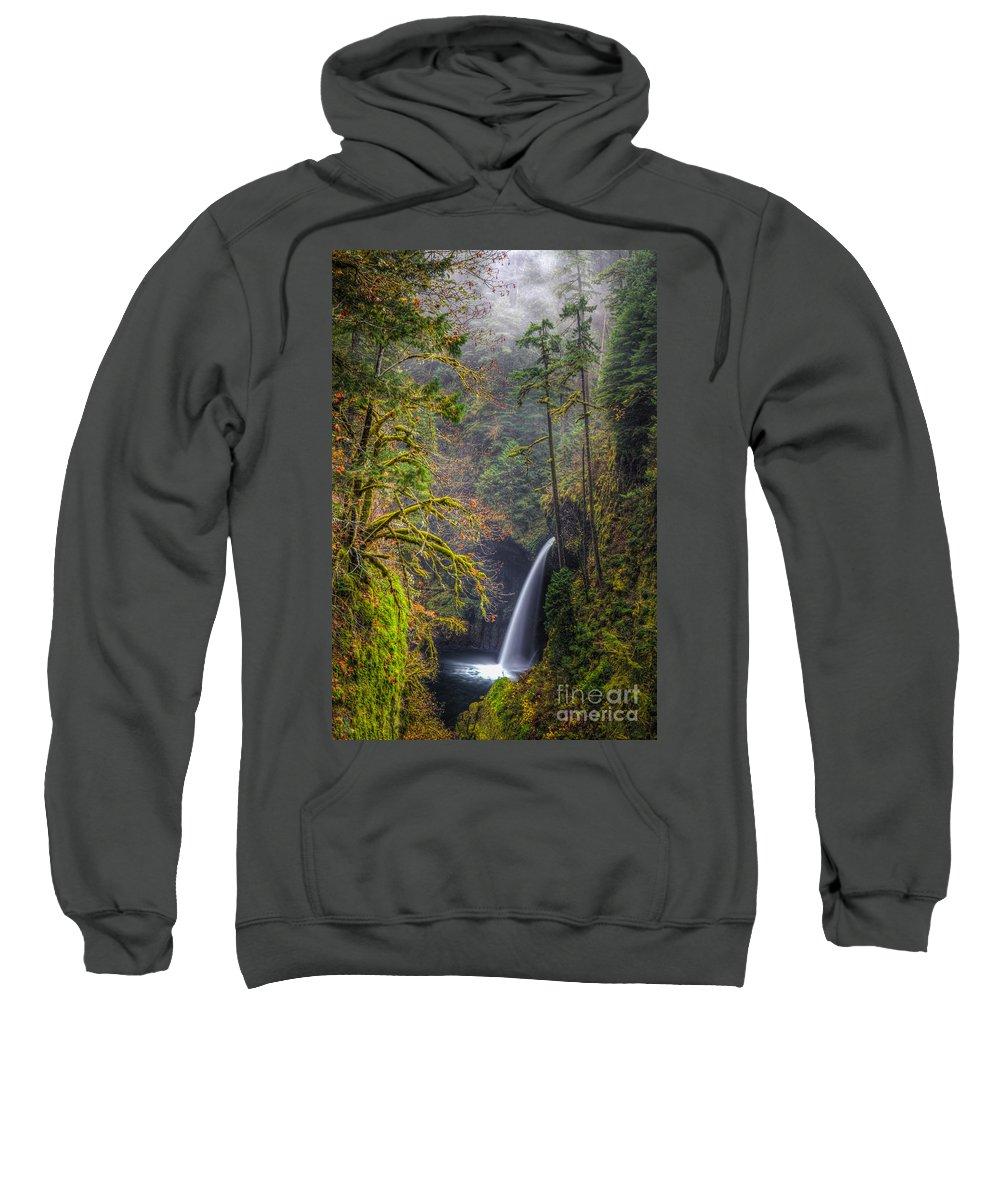 Columbia River Gorge Sweatshirt featuring the photograph Metlako Falls Oregon by Matt Hoffmann