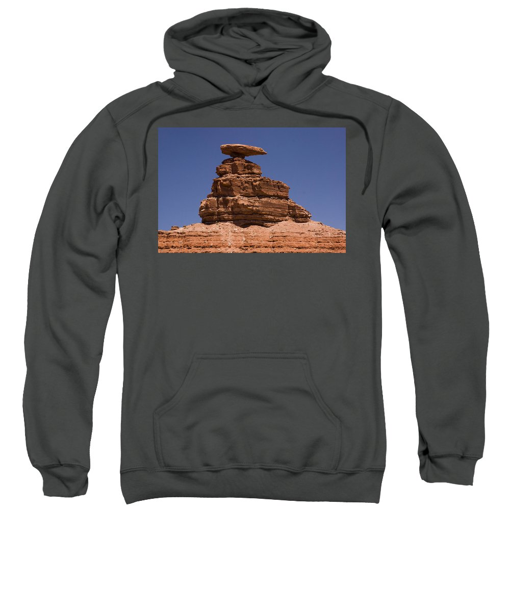 Mexican Hat Sweatshirt featuring the photograph Mexican Hat Rock by Gene Norris