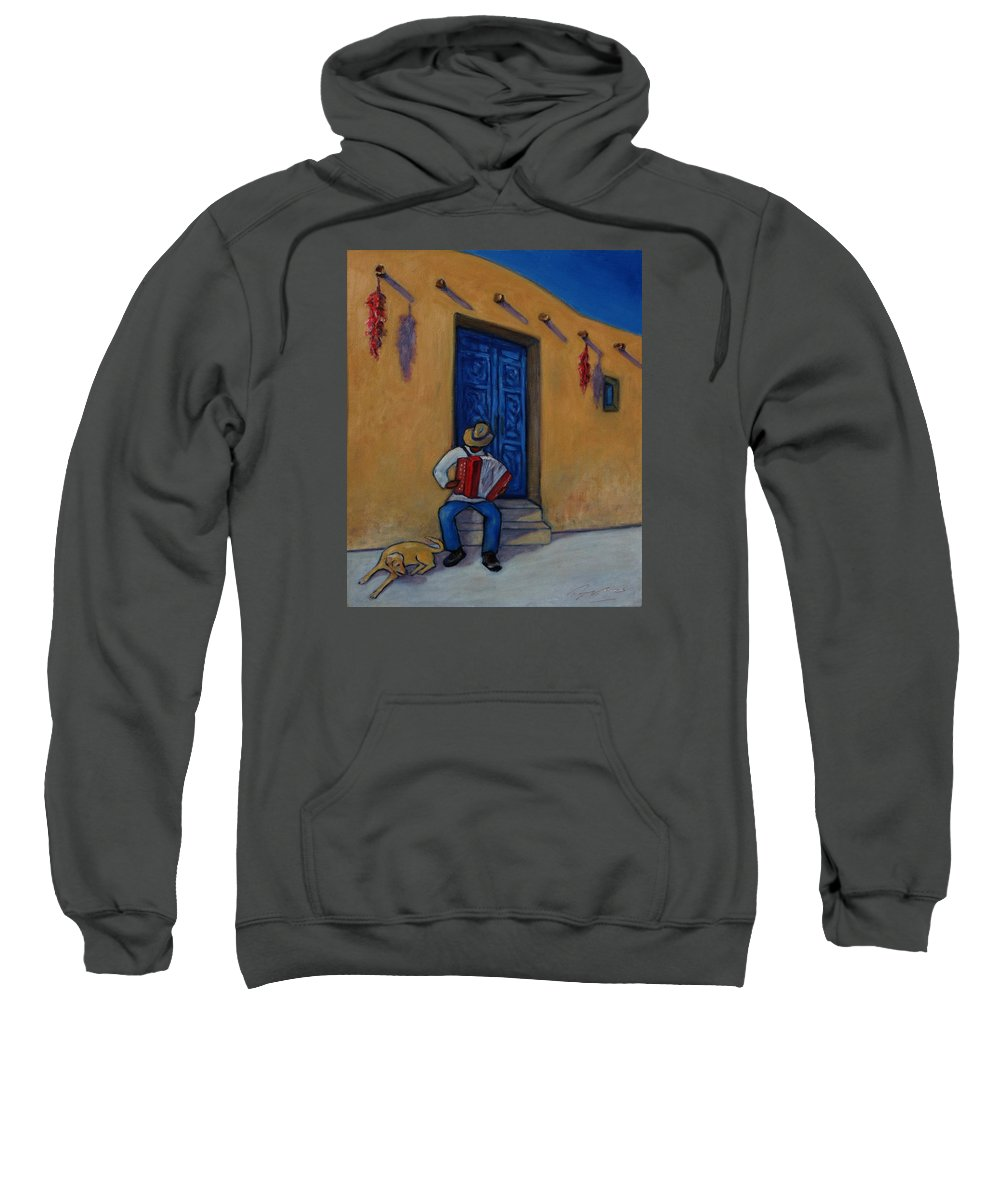 Figurative Sweatshirt featuring the painting Mexico Impression II by Xueling Zou