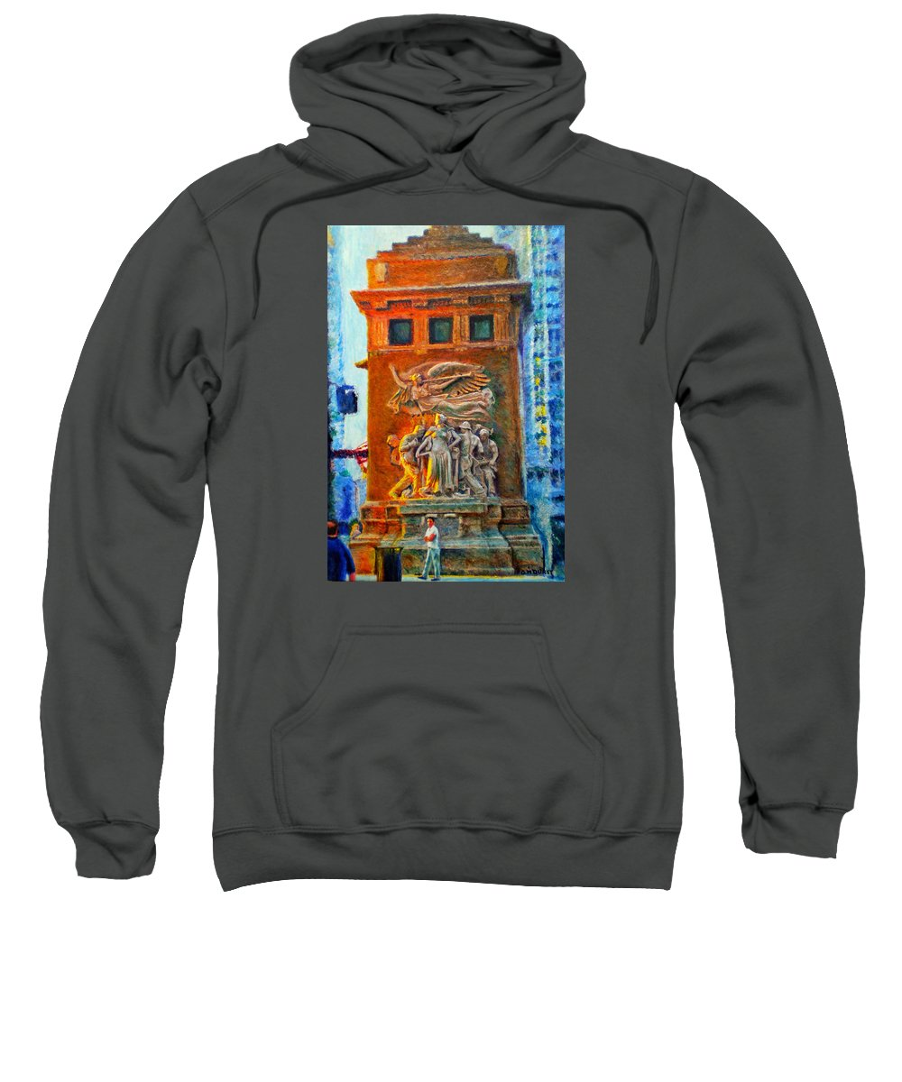 Chicago Sweatshirt featuring the painting Michigan Avenue Bridge by Michael Durst