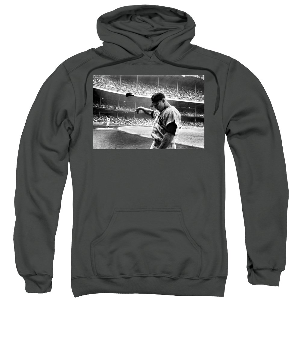 Mickey Mantle Hooded Sweatshirts T-Shirts