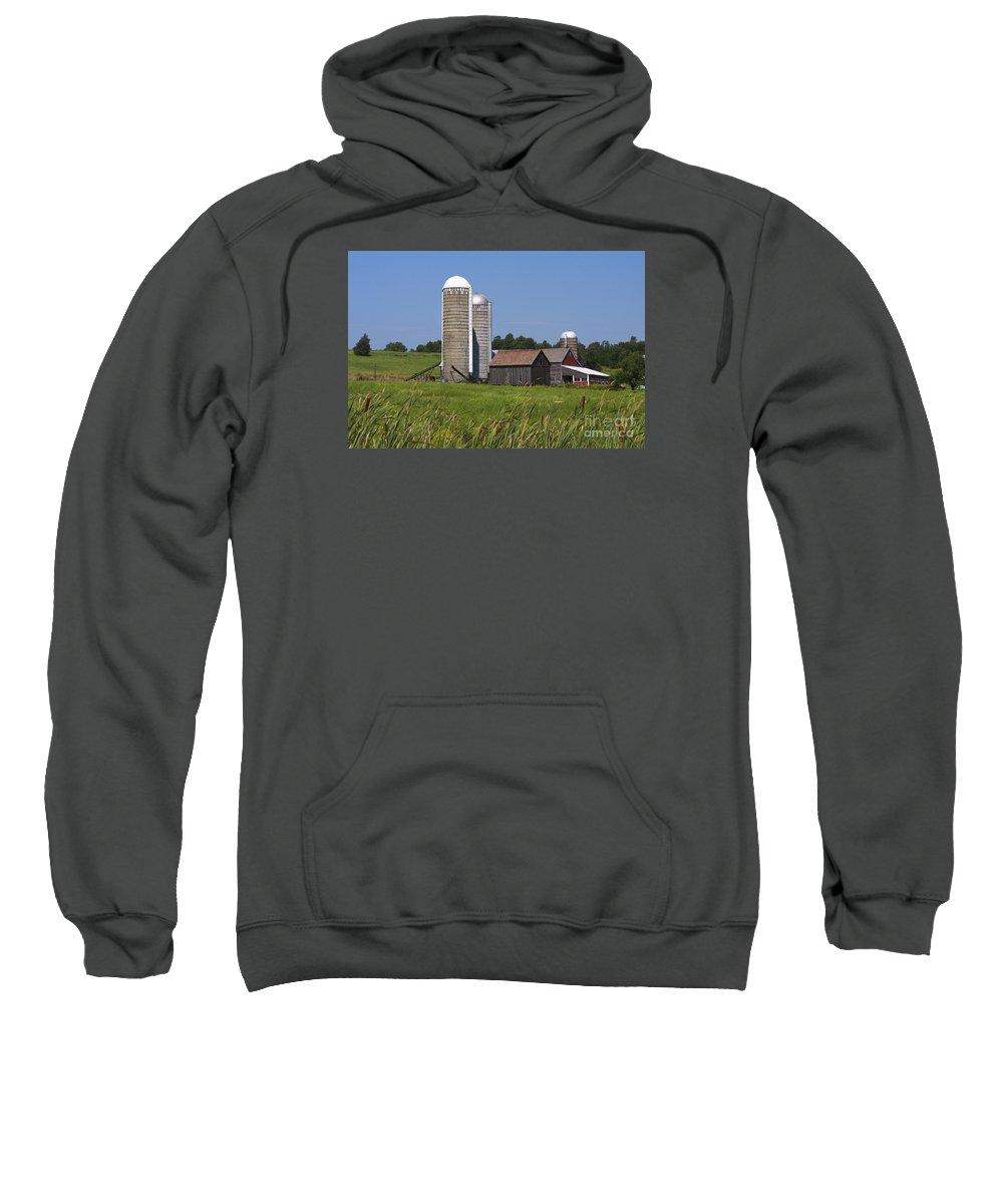 Vermont Sweatshirt featuring the photograph Middlebury Vermont Barn by Deborah Benoit