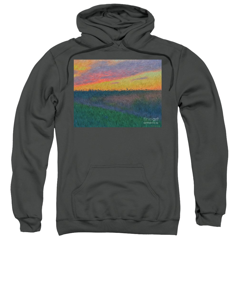 Pamela Briggs Luther Sweatshirt featuring the photograph Midwest Sunset by Luther Fine Art