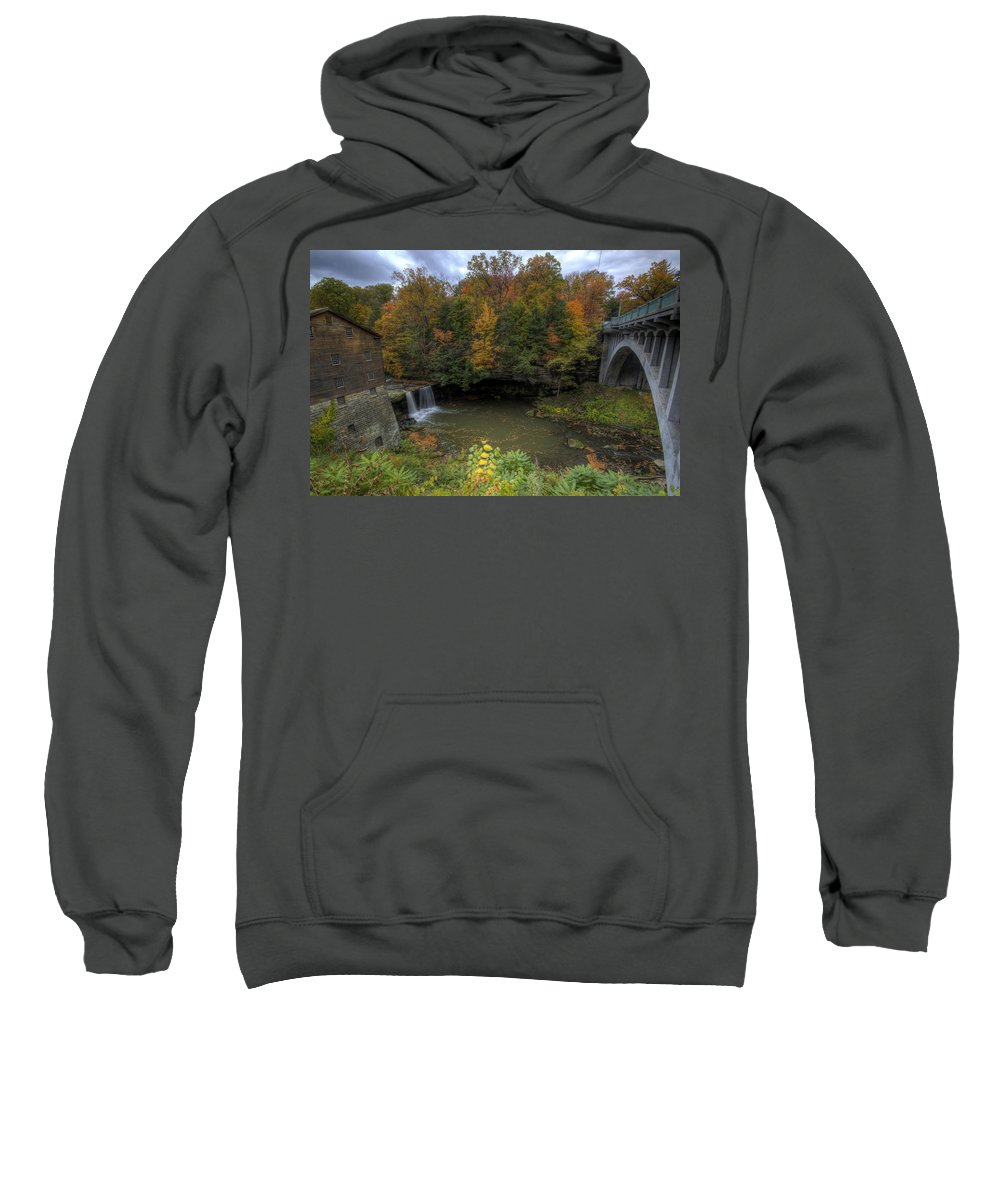 Mill Sweatshirt featuring the photograph Mill Creek Park In Autumn by David Dufresne