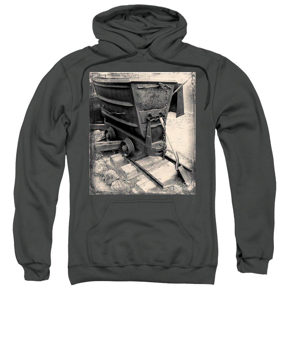 Ore Cart Photographs Sweatshirt featuring the photograph Mining Ore Cart by David Millenheft