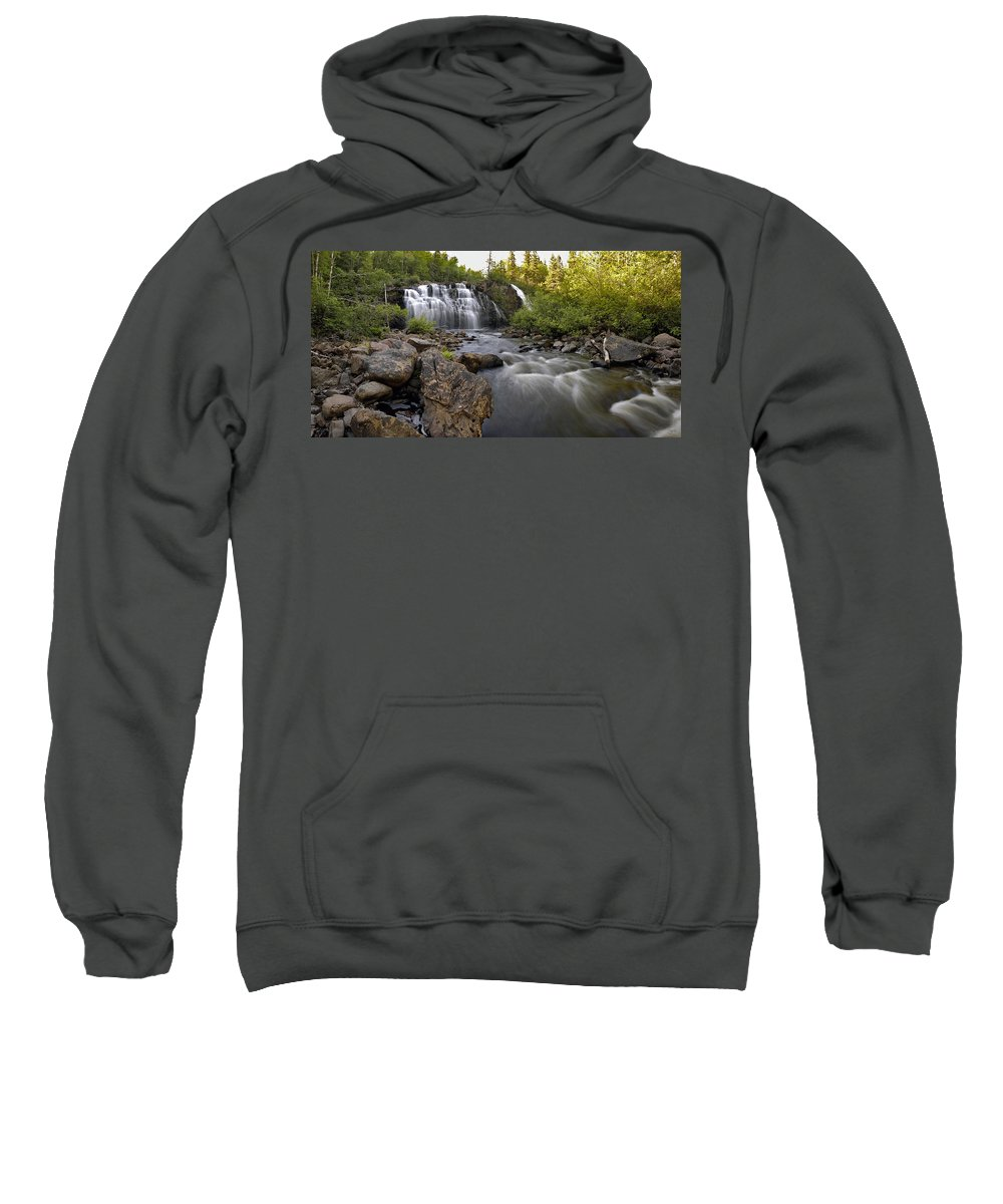Panorama Sweatshirt featuring the photograph Mink Falls by Doug Gibbons