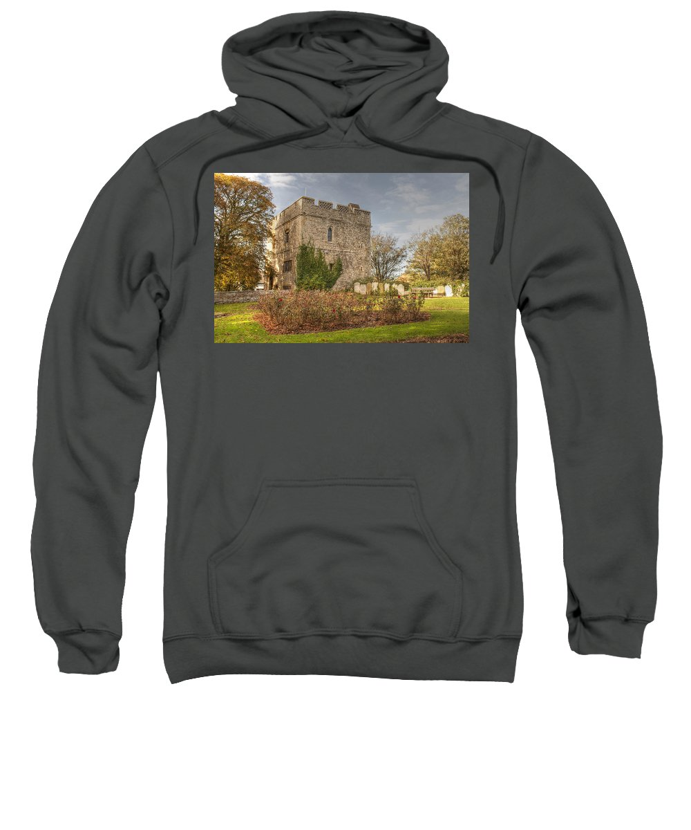 Minster Sweatshirt featuring the photograph Minster Abbey Gatehouse by Dave Godden