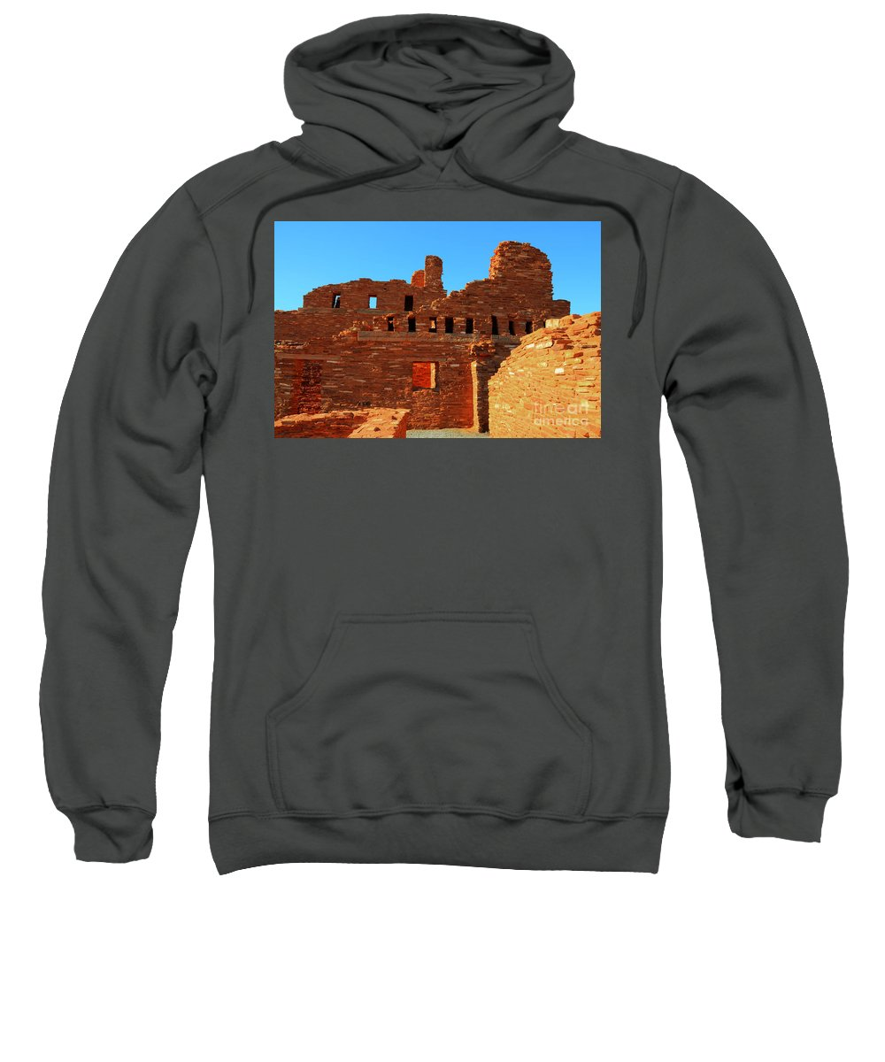 Salinas Pueblo Missions National Monument Sweatshirt featuring the photograph Mission Ruins At Abo by Vivian Christopher