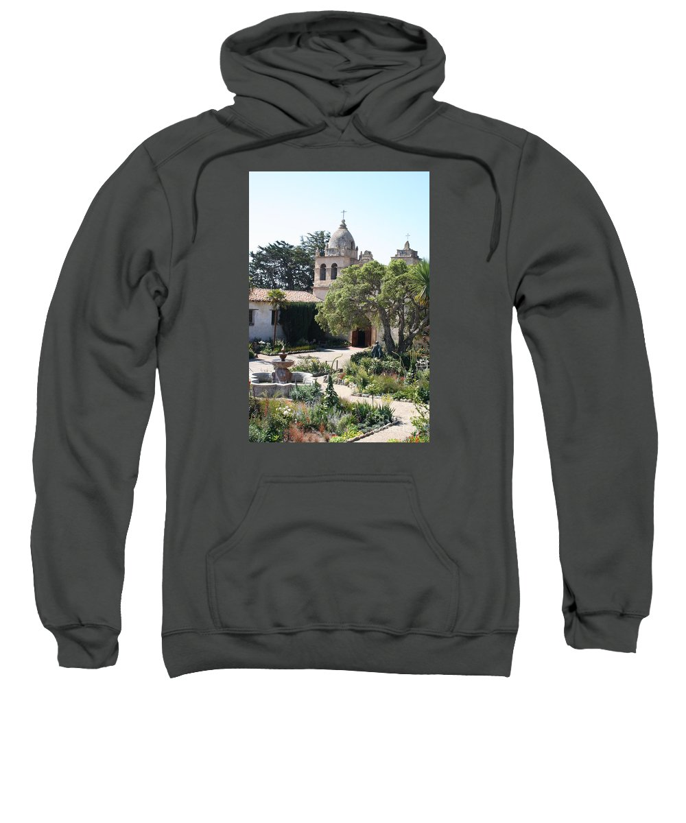 Mission Sweatshirt featuring the photograph Mission San Carlos Borromeo Del Rio Carmelo by Christiane Schulze Art And Photography